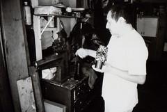 Ricoh R1 Shoemaker (▓▓▒▒░░) Tags: ricoh compact point shoot bw black white monochrome la los angeles california history bike ride architecture landmark arts analog mechanical classic retro vintage antique 35mm film camera design style artdeco