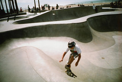 Ricoh R1 Venice Beach Skatepark (▓▓▒▒░░) Tags: kodak royal gold color la los angeles california history bike ride architecture landmark arts analog mechanical classic retro vintage antique 35mm film camera design style