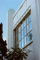 Cosina C1 Whittier Ice Cream 1 (▓▓▒▒░░) Tags: cosina slr japan colorama color uk la los angeles california history bike ride architecture landmark arts analog mechanical classic retro vintage antique 35mm film camera design style artdeco