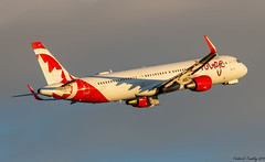 Air Canada Rouge / Airbus A321-211 / C-GHQG / YQB / Ex WOW air TF-MOM (tremblayfrederick98) Tags: airbus aviation aircanada airbusa321 aircanadarouge rouge wowair yqb sunset goldenhour avgeek