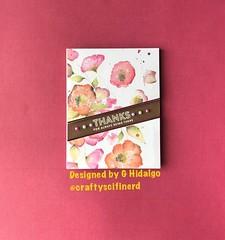Flowery Thanks (Craftyscifinerd) Tags: simonsaysstamp cardmaking sssflickrchallenge124 handmadecards