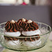Turkish Beze or Meringues on glass bowl