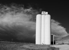 Haswell Grain Elevator (Explore 5/29/2019) (Tom Herlyck) Tags: amazing america awesome a7rii grainelevator haswell colorado clouds sky southeastcolorado storms c blackwhite bw explore kiowacounty