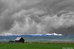 Incoming Storm - Version 3 (walkerross42) Tags: clouds storm mammatus barn mountain shermanpeak montpelier bearlakevalley idaho spring selectivecolor