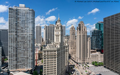 River North Skyline (20190525-DSC08286) (Michael.Lee.Pics.NYC) Tags: chicago michiganavenue wrigleybuilding tribunebuilding medinahathleticclub intercontinentalhotel chicagotribune londonhouse rooftop architecture cityscape skyline hotelview aerial sony a7rm2 fe24105mmf4g