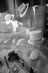 Vender hat shop - Parma - April 2019 (cava961) Tags: parma hat analogue analogico monochrome monocromo bianconero bw