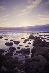 Purple Haze (amymedina.photoart) Tags: california blue art clouds amymedina light sunset sun seascape beach nature landscape photography rocks vibrant pastel coastal shore nautical tidal fiery