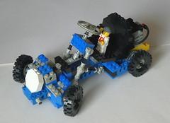 Go-Kart 854 from 1978 (captain_joe) Tags: toy spielzeug 365toyproject lego minifigure minifig car auto mikethemechanic gokart 854 1978 classic