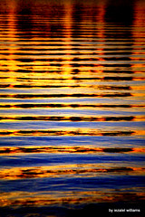 Water at sunset by iezalel williams IMG_9983-001 (iezalel7williams) Tags: water sea seawater sunset reflection canon photo nature orange yellow blue red