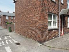 street corner (chrisinplymouth) Tags: corner wall brick terrace gableend backlane princerock plymouth devon england uk city cw69x xg diagx plain