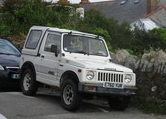 1987 Suzuki SJ410 Rhino (occama) Tags: e760yur 1987 suzuki sj410 rhino samurai jimny white small 4x4 japanese kei cornwall uk