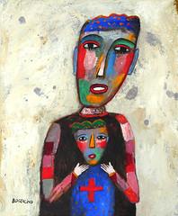 """PRINCESSE ET SON PETIT PRINCE"" (Boccacino) Tags: art painting jeanboccacino princess prince motherandson"