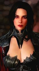 Seranalicious (DiamondbackVIII) Tags: serana rxkx22 red eyes black hair pinup elder scrolls v skyrim