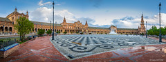 Plaza de España (Séville) (cedant1) Tags: plazaespaña séville plaza españa place citytrip sevilla andalousia andalousie monument europe europa spain espagne espana exposition1929 nikon nikond750 gobe gobefilter cpl uga uwa afs1635f4 cloud
