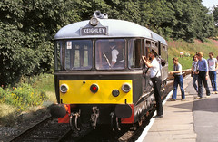 Oxenhope W&M railbus   Aug 83 C6229 (DavidWF2009) Tags: keighleyandworthvalley kwvlr kwvr oxenhope railbus