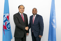 ITU Official Visits, High Level and VIP Meetings (ITU Pictures) Tags: itu secretarygeneral houlinzhao he mr j kwasi thompson grand bahama
