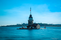 İstanblue (Through_Urizen) Tags: architecture bosphorus category external istanbul longexposure maidentower places turkey canon1585mm canon canon70d cityscape skyline coastal mosque minarets water sea sky bluesky clouds rocks motionblur seascape outdoor coast coastline headland
