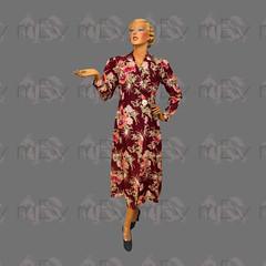 1940s Floral Print Acetate Robe (Rickenbackerglory.) Tags: vintage 1940s siegel mannequin floral print acetate robe gown eveningwear loungewear