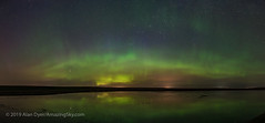 Aurora at Solstice Pond (May 29, 2019) (Amazing Sky Photography) Tags: alberta aurora cassiopeia may northernlights arc blue pond prairie reflection water