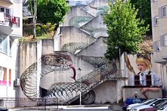 Guarda - street art (jaime.silva) Tags: guarda portugal portugalia portugalsko portugália portugalija portugali portugale portugalsk portogallo portugalska portúgal portugāle streetart streetartist street muralpainting mural pinturamural spraypaint spray spraypainting graffiti graf urban urbanart arteurbana wall wallart publicart artepublica painting paint sfhir