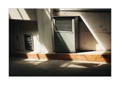 Light-Air (Thomas Listl) Tags: thomaslistl color light sunlight mood 50mm orange topography mundane lines diagonal garage