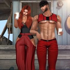 Coffe Time (Bryan Trend) Tags: head catwa catya lelutka guy body maitreya belleza jake hair runaway spirit outfit bodysuit pants noche harness signature gianni geralt riot jeans slink adam navajo bento pose dubai event female woman male men new post blog blogger sl secondlife second life