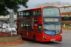 LK11 CXX, London Heathrow, September 9th 2016 (Southsea_Matt) Tags: lk11cxx vw1187 route105 metroline wright eclipse gemini volvo b9tl lhr egll londonheathrow greaterlondon england unitedkingdom canon 60d september 2016 autumn bus omnibus transport vehicle