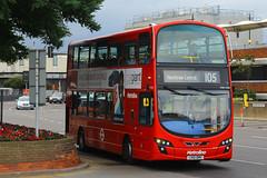 LK51 BMV, London Heathrow, September 9th 2016 (Southsea_Matt) Tags: lk51bmv vw1206 route105 metroline wright eclipse gemini volvo b9tl lhr egll londonheathrow greaterlondon england unitedkingdom canon 60d september 2016 autumn bus omnibus transport vehicle