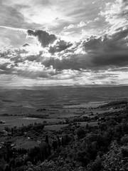 Sunburst after sunrise, Montalcino (rowteight) Tags: montalcino italy tuscany europe places