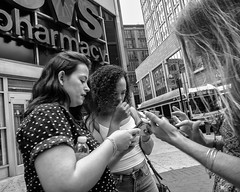 Market Street, 2019 (Alan Barr) Tags: philadelphia 2019 marketstreet marketstreeteast marketeast eastmarketstreet street sp streetphotography streetphoto blackandwhite bw blackwhite mono monochrome candid city people parade gx85