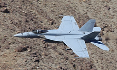 Pukin' Dog (Treflyn) Tags: boeing fa18e f18 fa18 super hornet ag 143 vfa143 pukindogs enter jedi transition more unusual eastern end rainbow canyon star wars death valley national park california usa 105