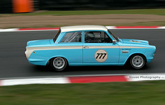 Pre-66 Touring Cars - Ford Lotus Cortina (2) ({House} Photography) Tags: masters historic festival pre 66 touring cars brands hatch uk kent fawkham car automotive race racing motorsport motor sport canon 70d 70200 f4 panning housephotography timothyhouse ford lotus cortina british