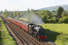 44871 LMS Stanier Class 5 4-6-0 (Roger Wasley) Tags: 44871 lms stanier class5 black5 460 ashchurch steam locomotive trains railways heritage preserved preservation steamdreams gloucestershire