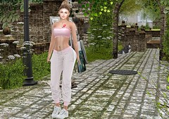 Perfect day to practice sport (Rose Sternberg) Tags: liz shape for genus bento project baby face head maitreya lara body second life event may 2019 perfect day practice sport scandalize candy top group vip gift blueberry joggers native urban luke sneakers uber doux ariana hair