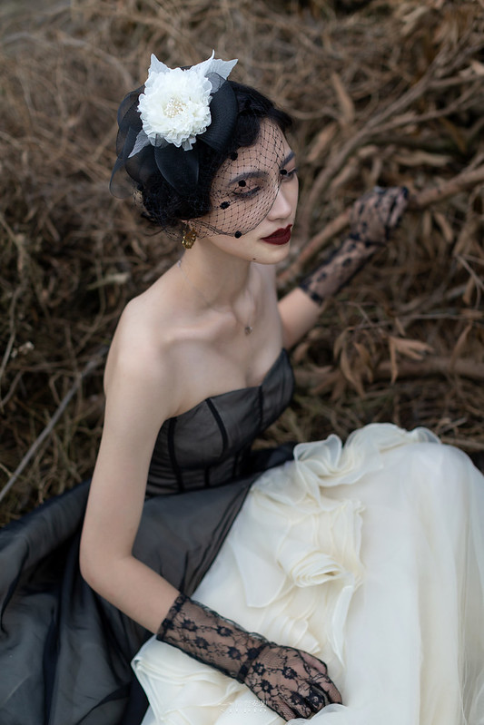 台南婚攝 | 歐式莊園婚紗外拍,復古面紗透露高冷名媛神秘感 12