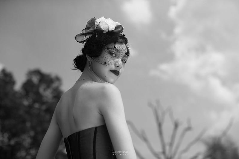 台南婚攝 | 歐式莊園婚紗外拍,復古面紗透露高冷名媛神秘感 9