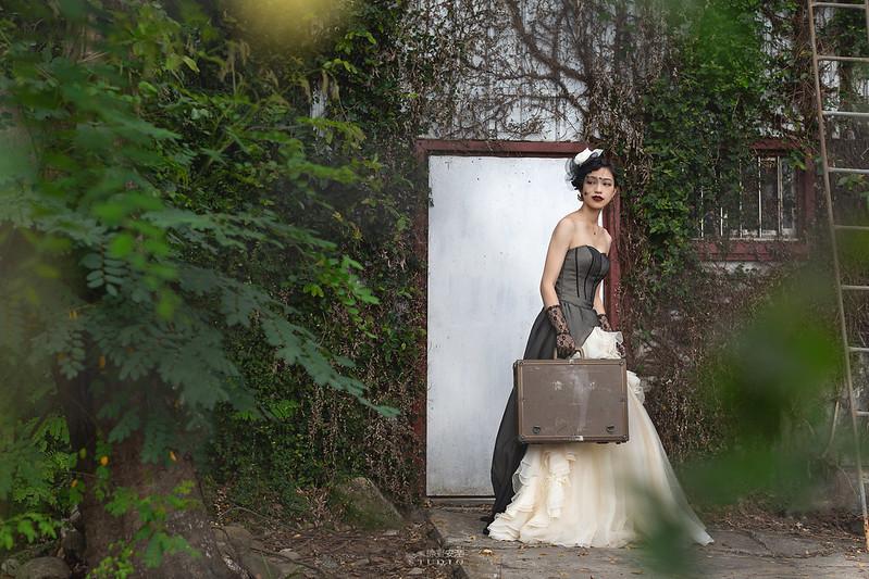 台南婚攝 | 歐式莊園婚紗外拍,復古面紗透露高冷名媛神秘感 8