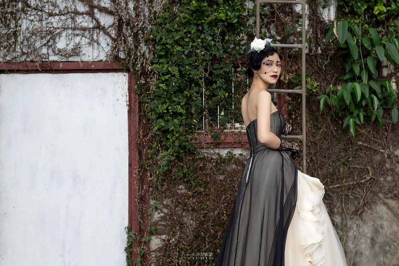 台南婚攝 | 歐式莊園婚紗外拍,復古面紗透露高冷名媛神秘感 2