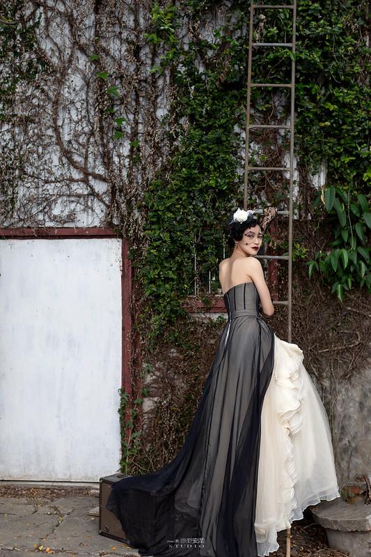台南婚攝 | 歐式莊園婚紗外拍,復古面紗透露高冷名媛神秘感 5