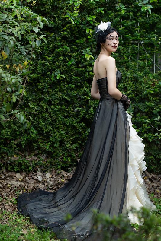 台南婚攝 | 歐式莊園婚紗外拍,復古面紗透露高冷名媛神秘感 3