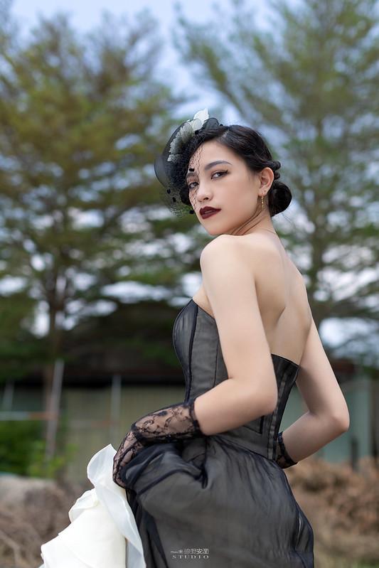 台南婚攝 | 歐式莊園婚紗外拍,復古面紗透露高冷名媛神秘感 11