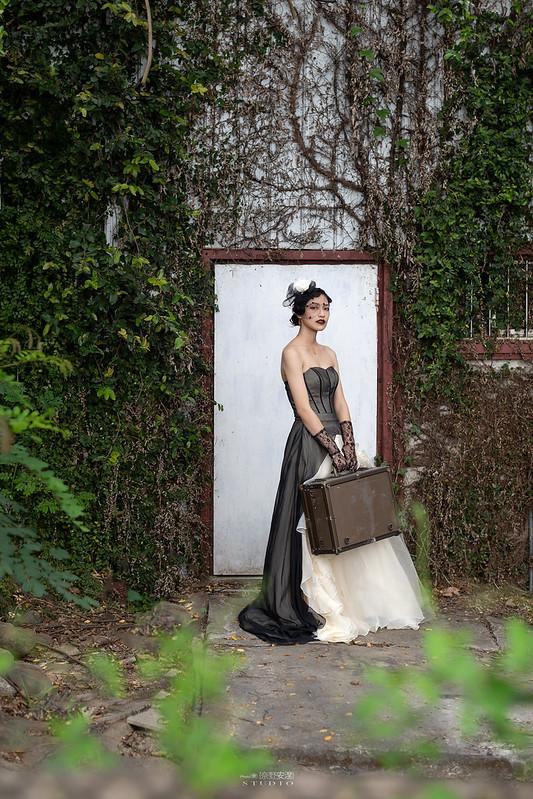 台南婚攝 | 歐式莊園婚紗外拍,復古面紗透露高冷名媛神秘感 7