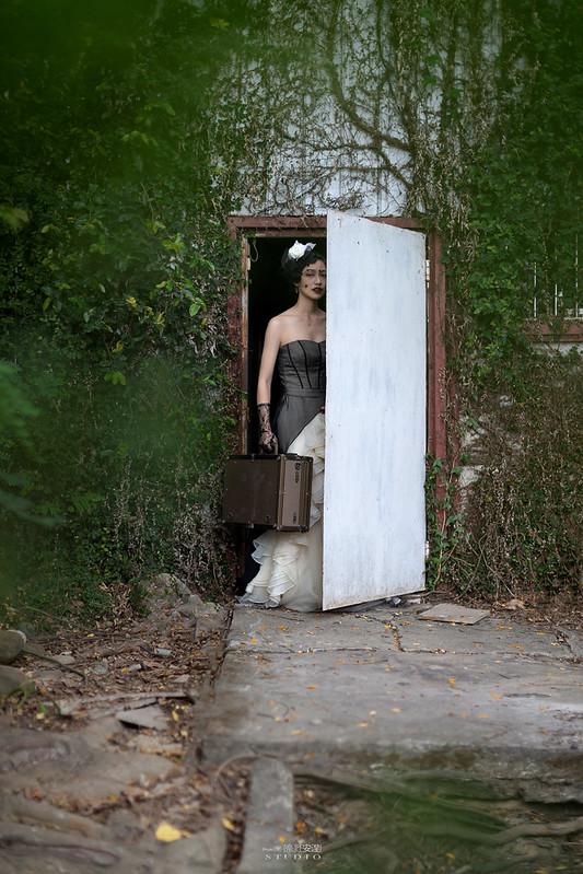 台南婚攝 | 歐式莊園婚紗外拍,復古面紗透露高冷名媛神秘感 4