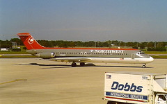 Northwest-Airlines N760NW DC-9-40 at Tampa TPA Florida USA (thelastvintage) Tags: northwestairlines n760nw dc940 tampa tpa florida usa