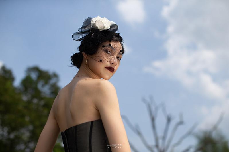 台南婚攝 | 歐式莊園婚紗外拍,復古面紗透露高冷名媛神秘感 10