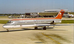 Northwest-Airlines N763NW DC-9-40 at Tampa TPA Florida USA (thelastvintage) Tags: northwestairlines n763nw dc940 tampa tpa florida usa