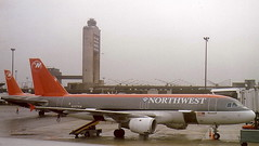 Northwest-Airlines N337NW Airbus A320-211 at Detroit DTW USA (thelastvintage) Tags: northwestairlines n337nw airbus a320211 detroit dtw usa