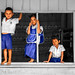 Students Trio - North of Thailand - Ben Heine Photography