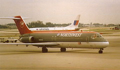 Northwest Airlines N952NW DC-9-30 at Miama MIA Florida USA (thelastvintage) Tags: northwest airlines n952nw dc930 miama mia florida usa