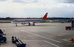 Northwest Airlines DC 9 and Boeing 757 at Minneapolis MSP Minnesota USA (thelastvintage) Tags: northwest airlines dc 9 boeing 757 minneapolis msp minnesota usa